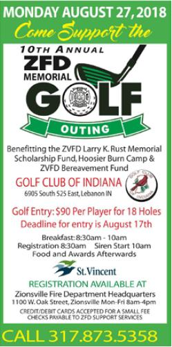 Celebrating 10 Years of the ZFD Memorial Golf Outing