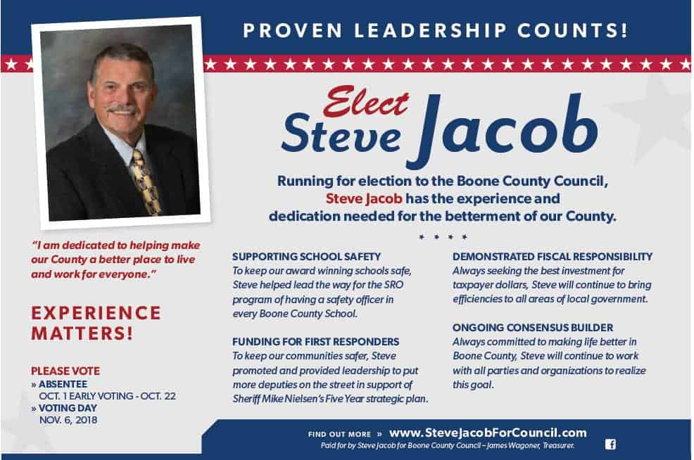 Re-Elect Steve Jacob for Boone County Council