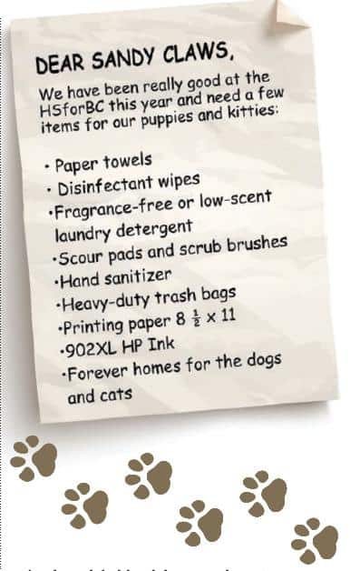 Help the Humane Society this Holiday Season