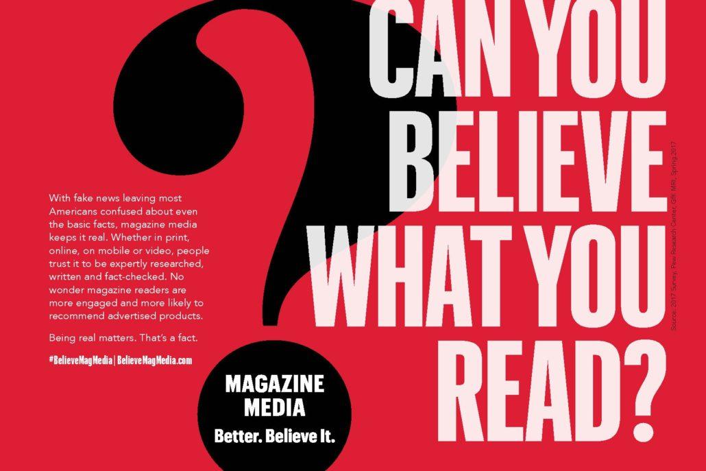 Magazines are alternative to fake news