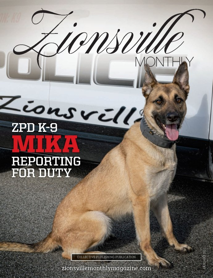 Zionsville Monthly magazine Cover January 2021